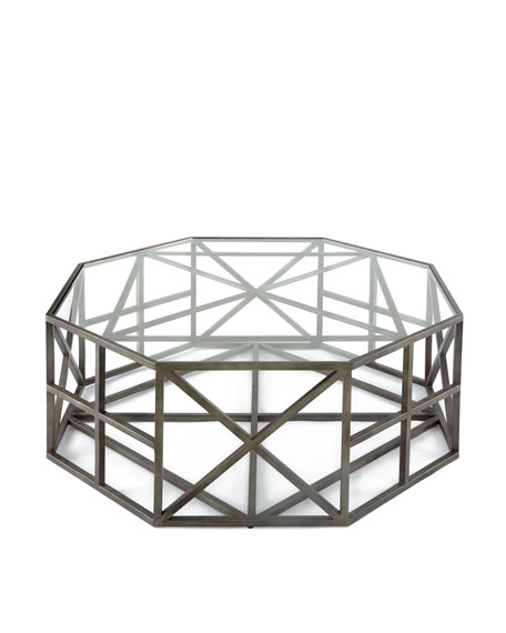 Octagon coffee table for Octagon glass top coffee table