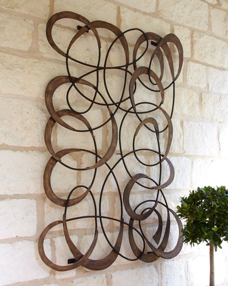 Metal Circle Wall Decor mingling circles wall decor