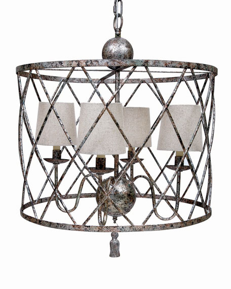 Open weave 4 light chandelier mozeypictures Choice Image