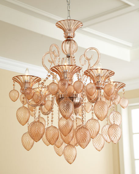 Blush 6 light chandelier mozeypictures Choice Image