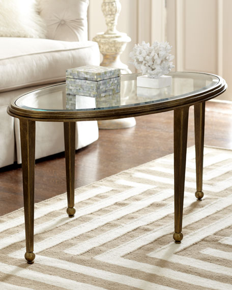 Montague Oval Glass Coffee Table