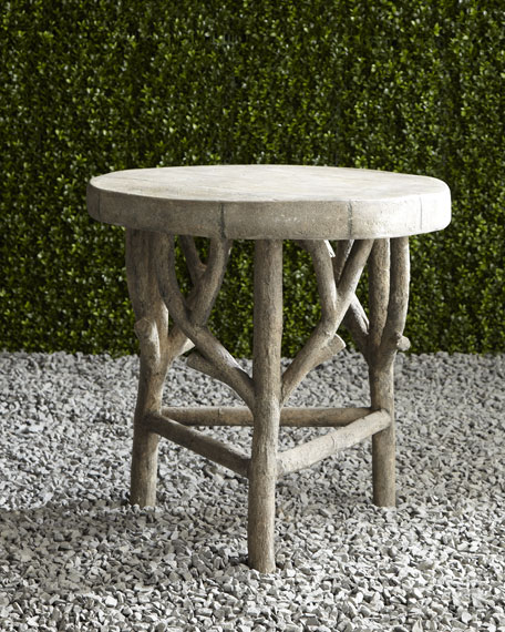 Neiman Marcus Artemis Faux-Bois Side Table