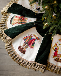 Old World Santas Christmas Tree Skirt