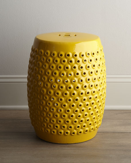 PIERCED CERAMIC STOOL