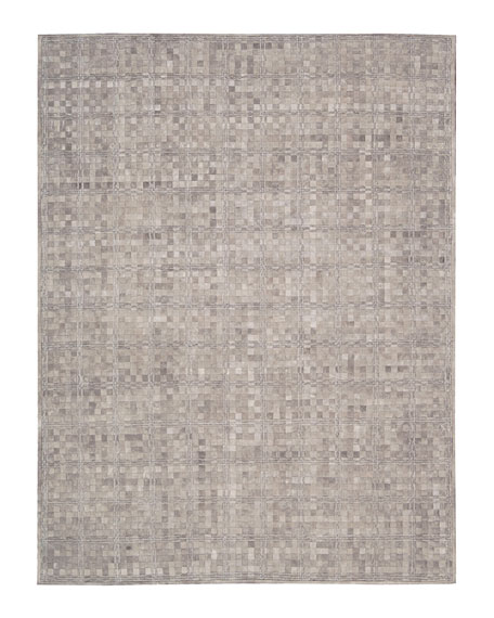 "Derby Woven Leather Rug, 5'3"" x 7'5"""