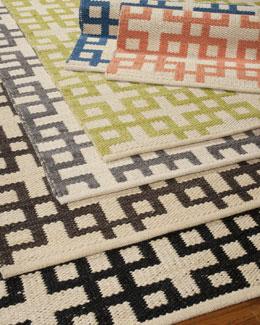 Block Squares Flatweave Rug, 5'3