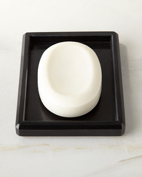 Luna Black Marble Soap Dish