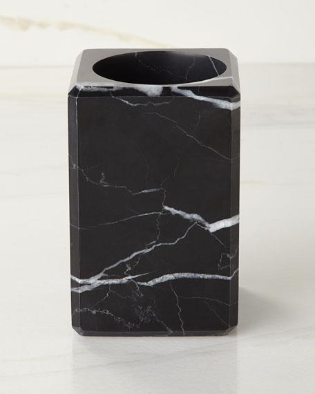 Luna Black Marble Tumbler