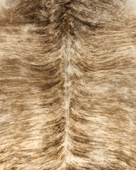 """Brindle Hairhide Rug, 6' x 7'5"""""""