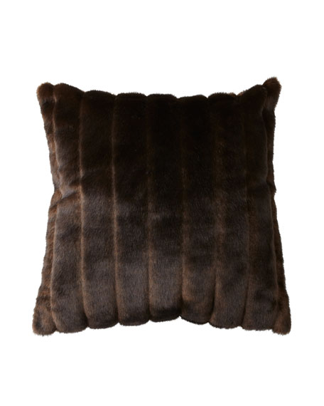 Sable Faux Fur Accent Pillow