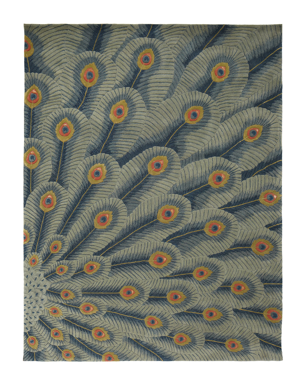 Fancy Peacock Rug 5 6 Quot X 7 5 Quot