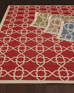 Locking Hex Rug, 5'3