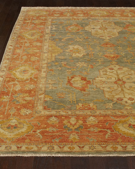 Exquisite Rugs Thompson Oushak Rug 10 X 14