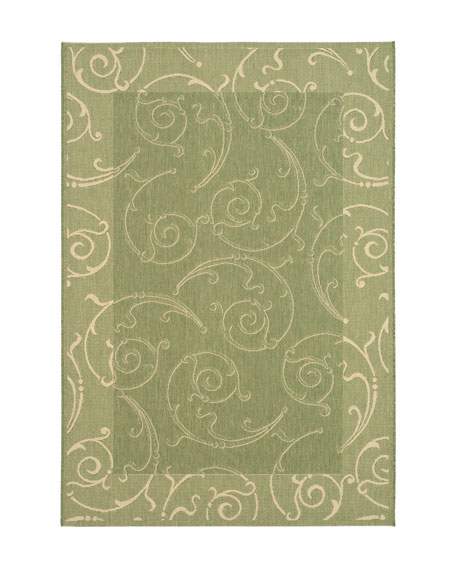 "Giddings Scroll Rug, 6'7"" Square"