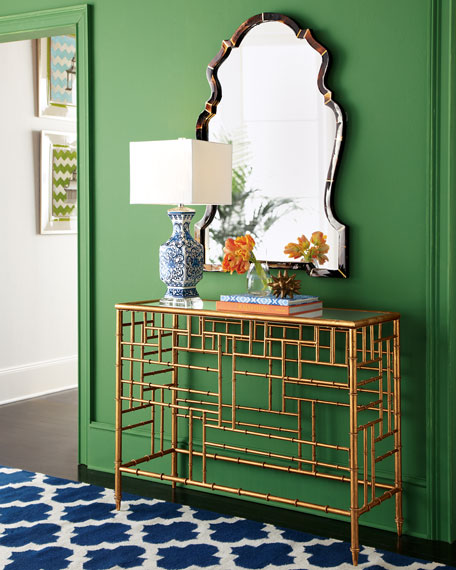 Horn Chippendale-Style Mirror