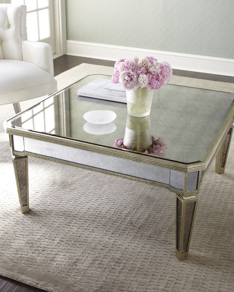 Amelie mirrored coffee table for Mirrored coffee table and end tables