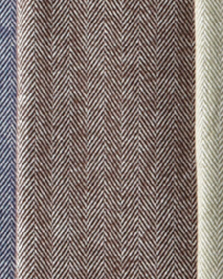 Brushed Cotton Herringbone-Weave Throw