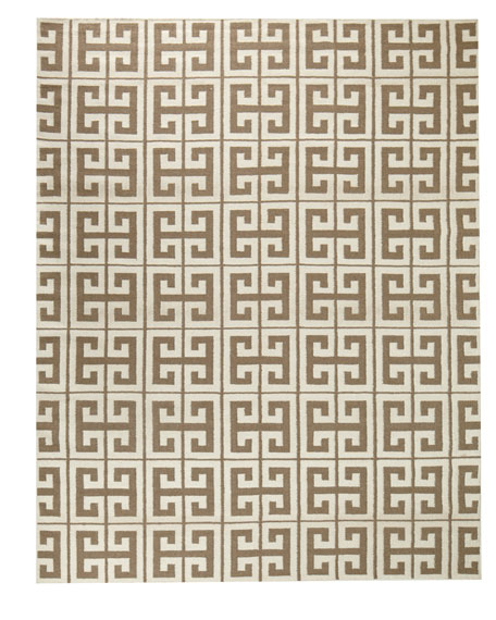 Oran Greek Key Flatweave Rug