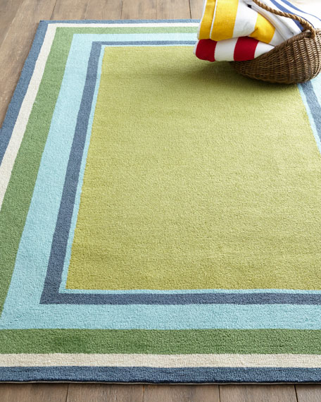 "Seaside Blocks Outdoor Rug, 3'5"" x 5'5"""