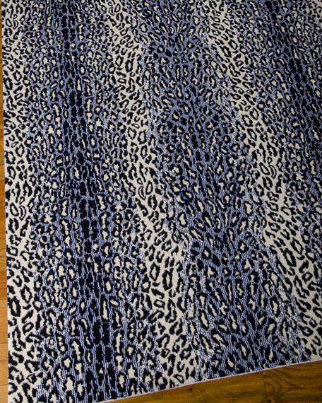 "Midnight Cheetah Rug, 9'6"" x 13'"