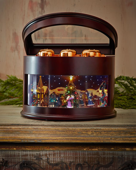 Animated Symphony of Bells Musical Tabletop Decoration
