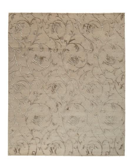 Linen Scrolls Rug, 8' x 10'