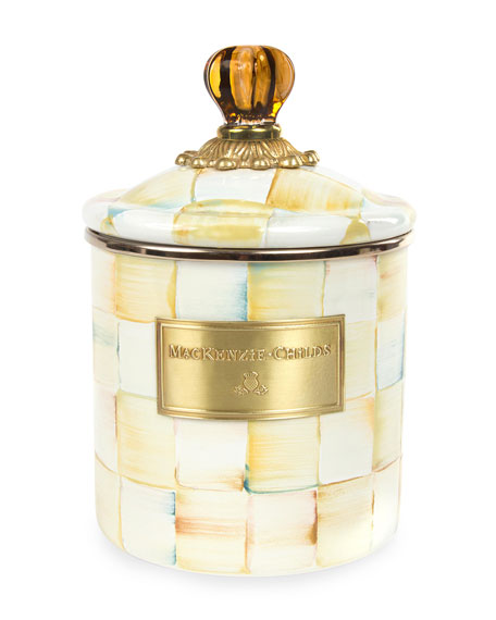 MacKenzie-Childs Small Parchment Check Canister