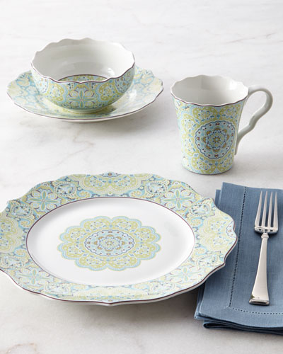 16-Piece Lyria Teal Dinnerware Service
