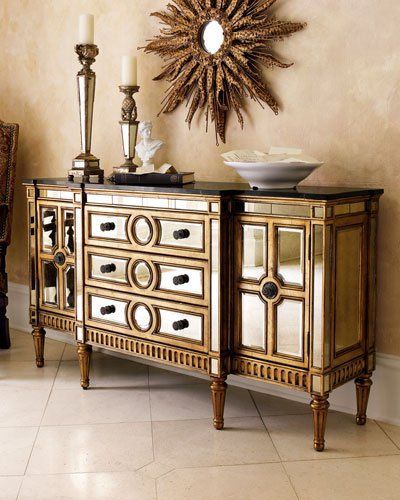 Golden Mirrored Console