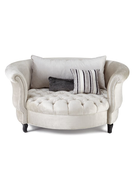 Harlow Silver Cuddle Chair