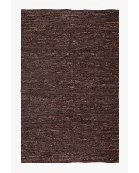 Woven Leather Rug, 8' x 11'