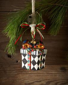 Mackenzie Childs Harlequin Present Christmas Ornament