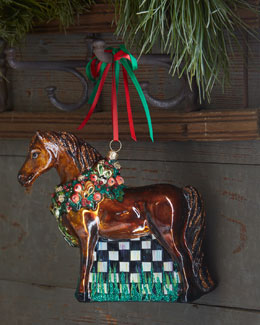 MacKenzie-Childs Best In Show Horse Ornament