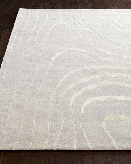 Silver Wisp Rug, 5' x 8'