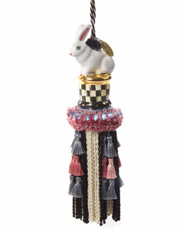 Courtly Check Rabbit Tassel