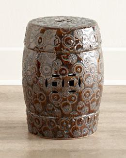 Bronze Porcelain Garden Stool