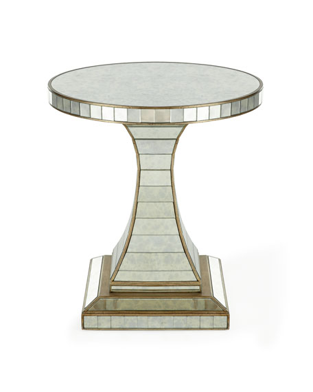 Janiece Mirrored Side Table