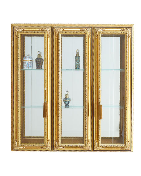 Golden Three-Panel Vitrine