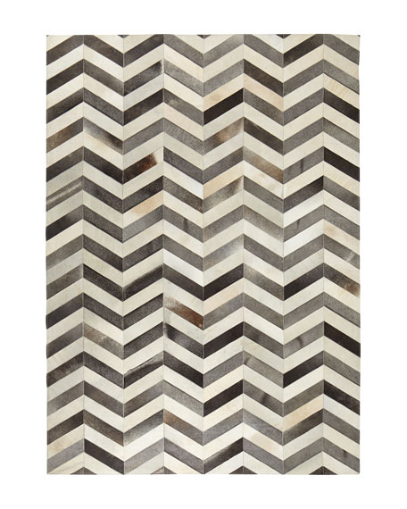Windsor Chevron Hide Rug, 5' x 8'