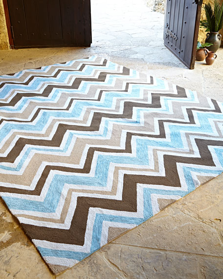 "Indoor/Outdoor Chevron Rug, 7'6"" x 9'6"""