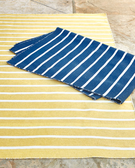 Pinstripe Indoor/Outdoor Rug, 8' Square