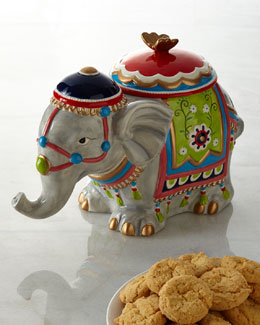 NM EXCLUSIVE Elephant Cookie Jar
