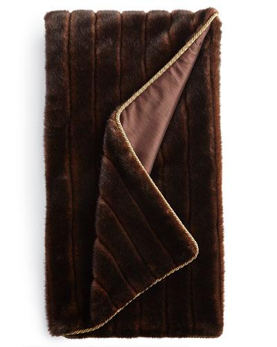 Stately Elegance Faux-Fur Throw
