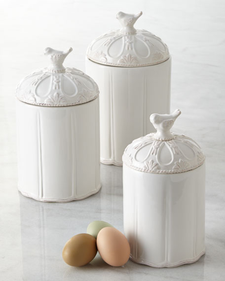 Mud Pie Three Piece Bird Canister Set