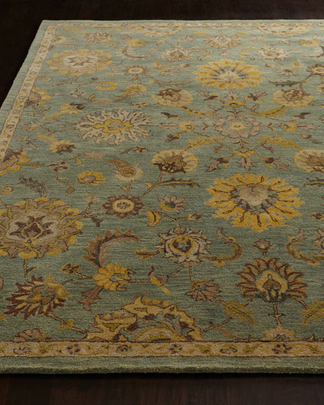 Astral Blossom Rug, 6' Round