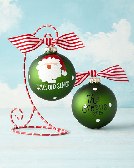 Jolly Old St. Nick Personalized Christmas Ornament