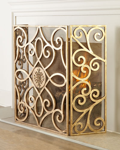 Patrice Medallion Fireplace Screen
