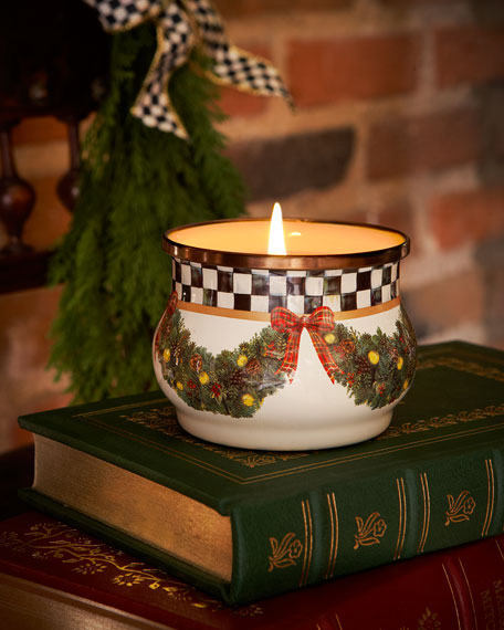Evergreen Winter Candle