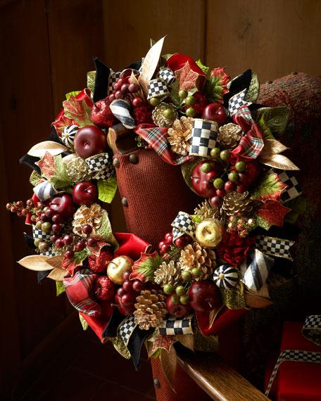 Mackenzie Childs Small Gala Christmas Wreath
