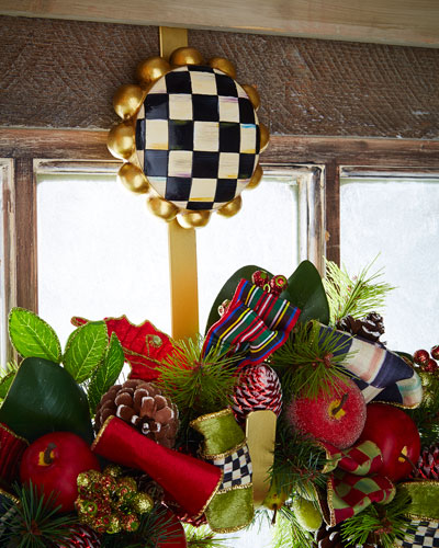 Courtly Check Wreath Hanger